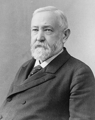 1892 United States presidential election in North Carolina - Image: Benjamin Harrison, head and shoulders bw photo, 1896
