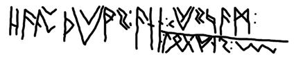 Bergakker runes