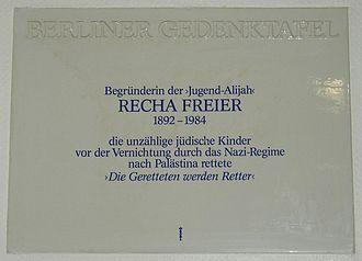 Recha Freier - Memorial plaque for Recha Freier located in Berlin-Charlottenburg, Germany