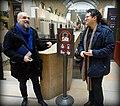 Bernard Hasquenoph et Lionel Maurel devant la nouvelle signalétique du musée d'Orsay.jpg