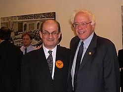 Bernie Sanders and Salman Rushdie