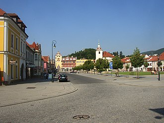 Beroun - Jan Hus Square