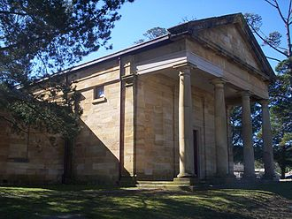 Berrima, New South Wales - Historic court house in Berrima (completed 1838)