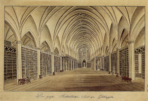 SS. Peter and Paul's Church, Göttingen - Library hall in Paulinerkirche (ca 1820)
