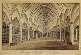 Göttingen State and University Library - Image: Besemann Grosser Bibliothekssaal Goettingen (um 1820)