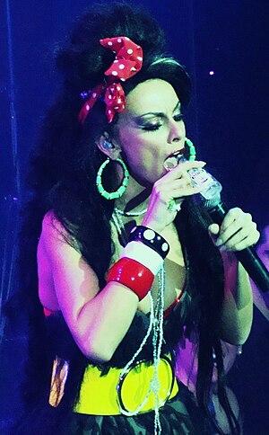 Maggira Sisters - Betty Maggira performing at STARZ as Amy Winehouse.