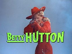 Betty Hutton elokuvan trailerissa
