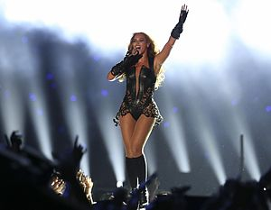 Super Bowl XLVII halftime show - Beyoncé performing during the halftime show.