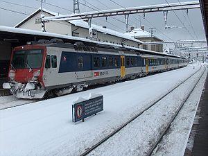 Basel Regional S-Bahn - Image: Bhf liestal winter