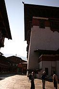 Bhutan architecture dzong courtyard