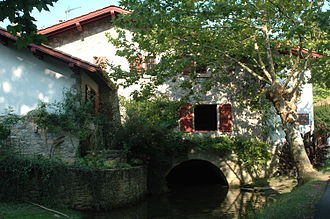 Uhabia - Bidart, the Mill of Bassilour (1741) on the Uhabia