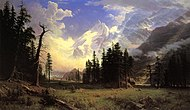 Bierstadt Albert The Morteratsch Glacier Upper Engadine Valley Pontresina.jpg