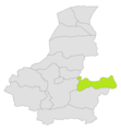 Bilchiragh district location in map of Faryab province.png