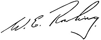 Bill Rowling - Image: Bill Rowling Signature