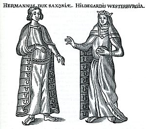 Hermann Billung - Margrave Hermann of the Billung March and Hildegard of Westerburg