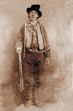 Flopped image - Billy the Kid. (Flopped tintype photo)