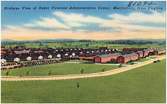 Martinsburg, West Virginia - Postcard view of veterans medical center