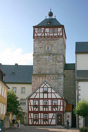 Bischofsheim an der Rhön - Image: Bischofsheim an der Rhön Zentturm 9617
