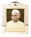 Black and white portrait photograph of Rajendra Prasad presented to the US.jpg