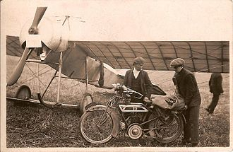 Blackburne (motorcycles) - The Blackburne motorcycle given to Harold Blackburn, used both as a solo and sidecar to promote flying displays with the Blackburn Type I.
