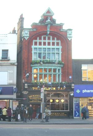 The Black Cap - The entrance to The Black Cap