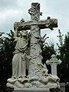 Sint-Vituskerk, begraafplaats: grafmonument met kruis en engel voor Ydema-Witteveen