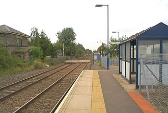 Bleasby railway station - Image: Bleasby station geograph.org.uk 1520649