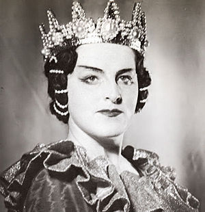 Birgit Nilsson - Nilsson as Lady Macbeth in the opera by Giuseppe Verdi at the Royal Swedish Opera, Stockholm, 1947.