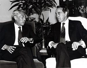 Han Xu - Han Xu (left) with US Senator Bob Dole in 1989