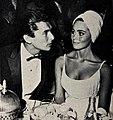 Bob Evans and Sharon Hugueny, 1961.jpg