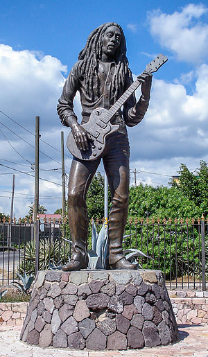 Bob Marley - Marley statue in Kingston