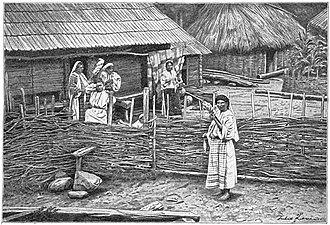 Sămănătorul - A peasant household near Bistriţa Monastery, ca. 1906