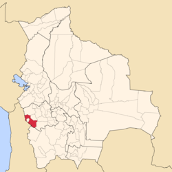 Location of Sabaya (Atahuallpa) Province in Bolivia