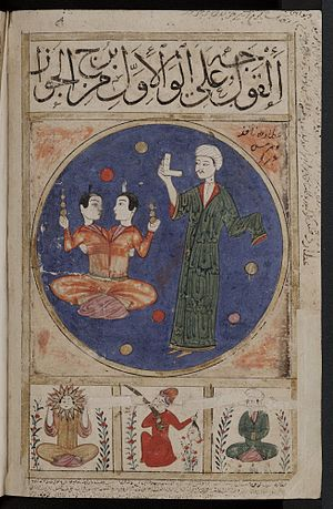 Gemini (astrology) - Image: Book of Wonders folio 5b