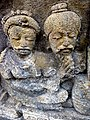Borobudur - Divyavadana - 106 E, (Maitrakanyakavadana) Maitrakanyaka offers a purse to his Mother (detail 1) (11705149465).jpg