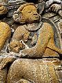Borobudur - Lalitavistara - 013 E, The Bodhisattva enters Queen Maya's Womb (detail 4) (11247837656).jpg