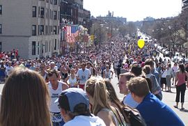 Boston marathon mile 25 beacon street 050418.jpg