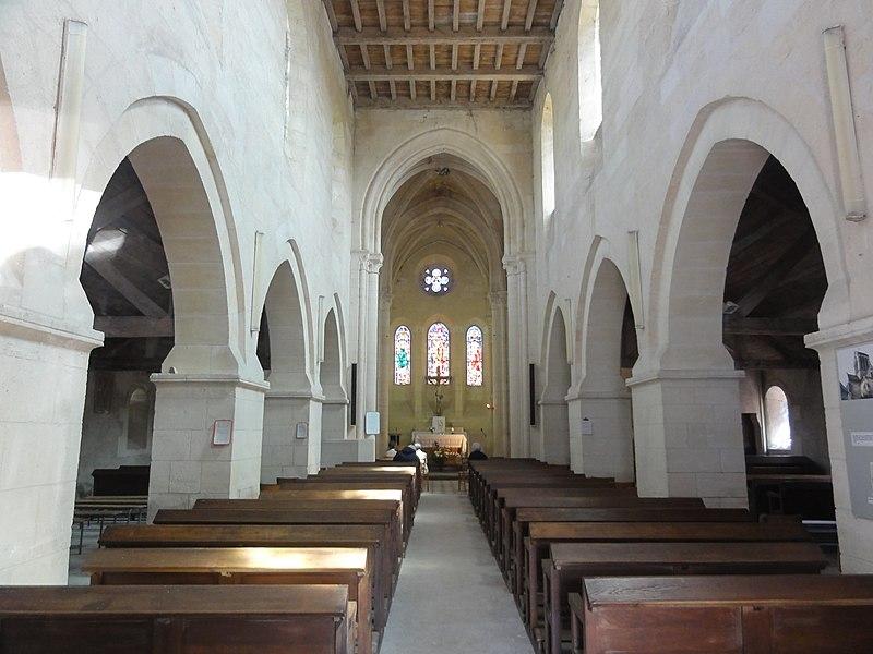 Bourg-et-Comin (Aisne) Église, intérieur
