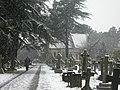 Bournemouth, Wimborne Road Cemetery snowscene - geograph.org.uk - 1150333.jpg