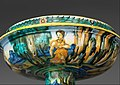 Bowl from a birth set with birth scene and Diana and Actaeon MET DP319671.jpg