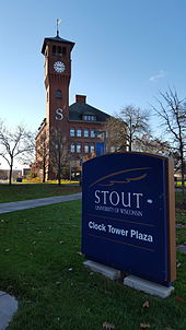 Clock Tower Plaza at UW-Stout