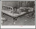 Boy resting on bed in attic of sharecropper shack, New Madrid County, Missouri.jpg