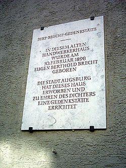 Photo of Eugen Bertold Brecht stone plaque