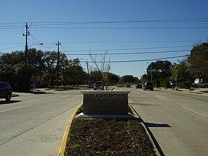 Briargrove, Houston - A sign marking Briargrove