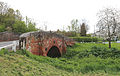 Brick bridge (Grade II 18th-century), at Moreton village, Essex, England.jpg