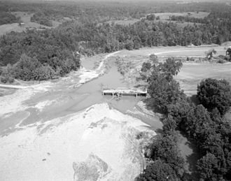 Colleen, Virginia - Flood damage in the vicinity of Colleen in the aftermath of Hurricane Camille