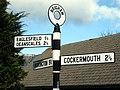 Brigham, Roadsign on High Brigham - geograph.org.uk - 733345.jpg