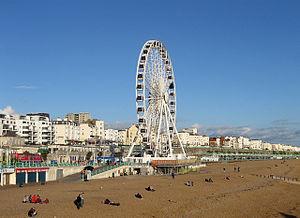 Brighton Wheel - The Brighton Wheel overlooked Brighton's East Cliff