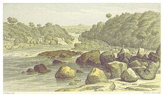 Courantyne River - Wonotobo Middle Fall in the Corentyne Basin from Canoe and Camp Life in British Guiana by Charles Barrington Brown