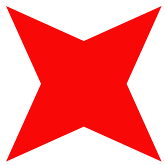 6th Infantry Division (United Kingdom) - Insignia of the 6th Infantry Division during the Second World War. A red four pointed star on white background.
